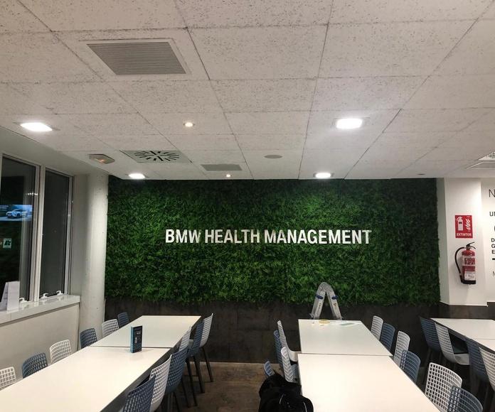 jardin vertical artificial oficinas BMW Madrid