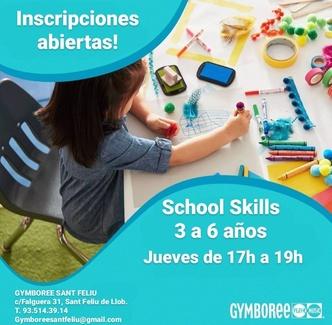 ESTRENAMOS PROGRAMA SCHOOL SKILLS -  3 a 6 años.
