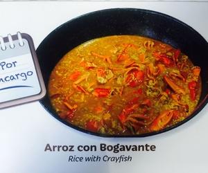 Arroz con bogavante o arroz con carabinero