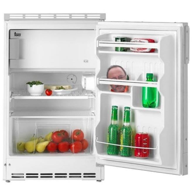La colocación de los alimentos en el frigorífico