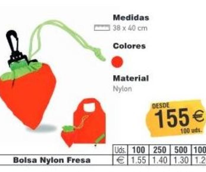 BOLSAS NYLON FRESA: TIENDA ON LINE de Seriprint Serigrafia