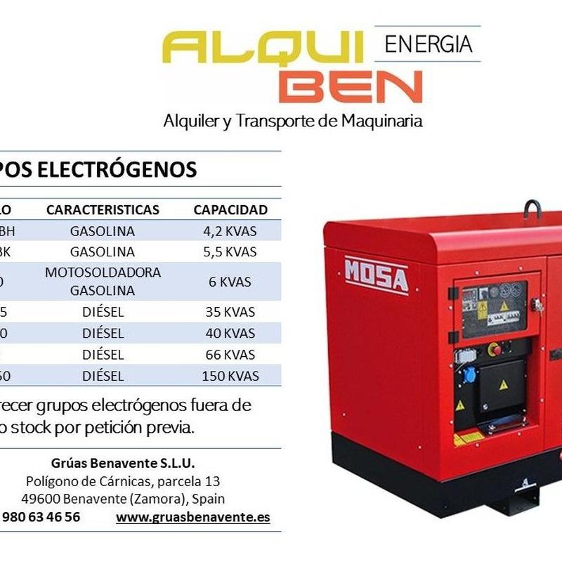 Energía: servicios de Grúas Benavente