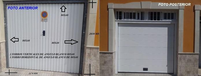 Basculante por seccional , antes y después
