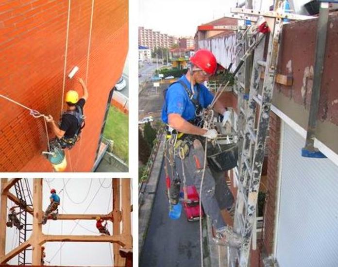 Trabajos verticales Santander-Torrelavega.Fachadas Cantabria.