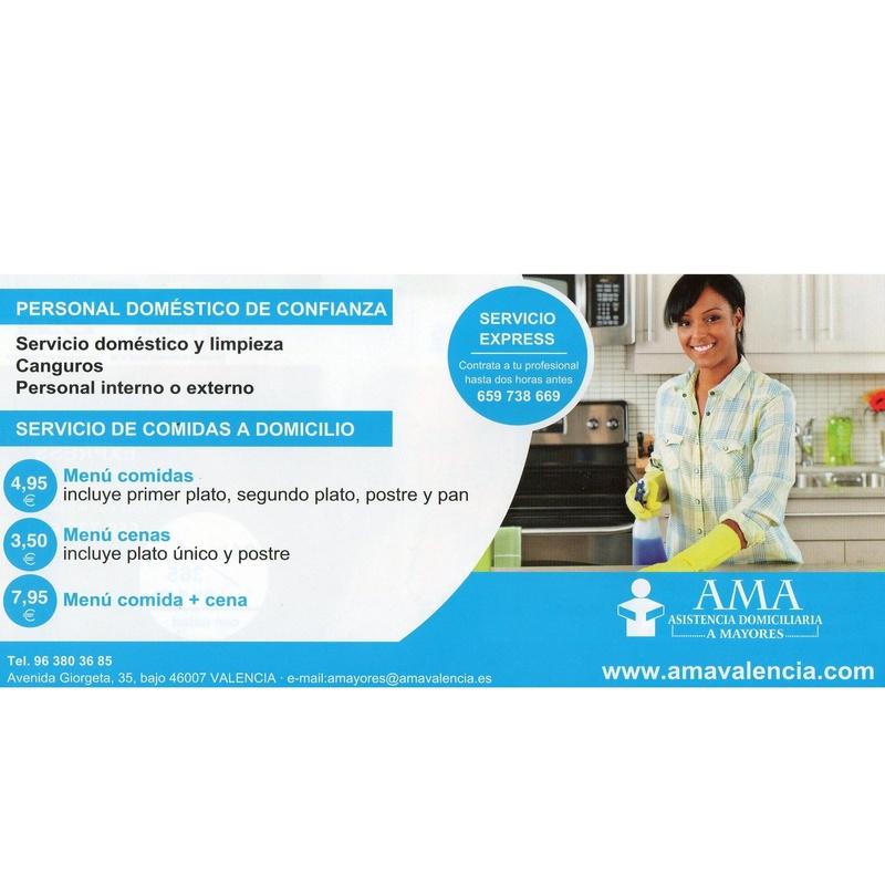 Cuidado y limpieza del hogar: QUE LE PODEMOS OFRECER de AMA Asistencia Domiciliaria