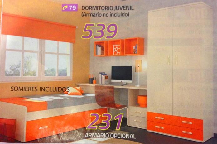 Habitacion juvenil mod.79: Productos  de Muebles Llueca, S. L.