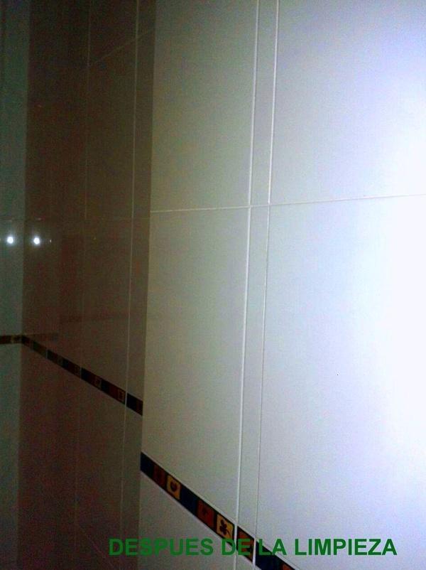 Limpieza de azulejos de cocina en vivienda particular.
