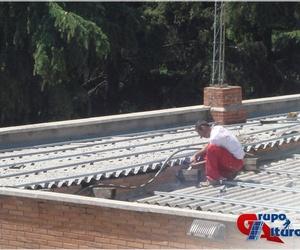 Instalación de 1220 m² chapa trapezoidal en acabado prelacado
