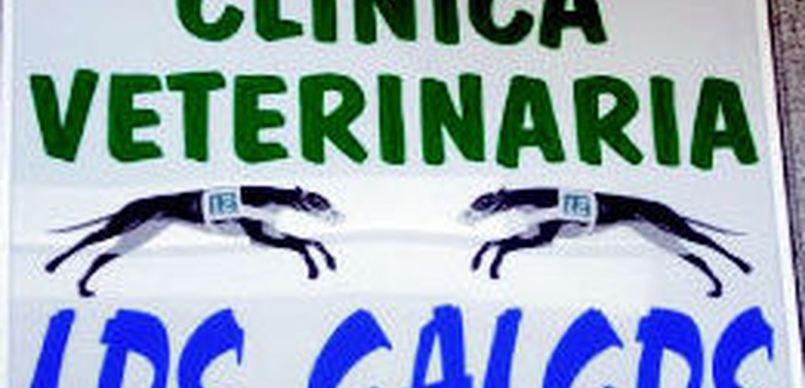 Letrero de la Clínica veterinaria Los Galgos Las Palmas de Gran Canaria http://www.clinica-veterinaria-losgalgos.es/es/