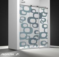 Mampara de baño Profiltek corredera serie Steel modelo ST-211 Classic decoración Classic