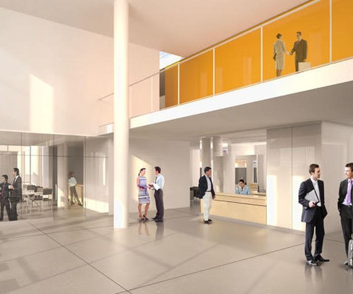 Oficinas y Escuela de negocios.  Proyecto CANACINTRA