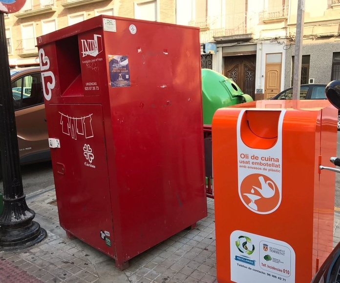 contenedores recogida de aceite usado domestico en Torrent. Recogida de aceite usado domestico Torrent,  Reciclaceite y Torrent acuerdo para colocar en la calle contenedores recogida aceite usado domestico