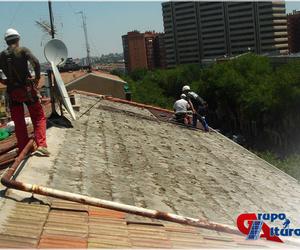 Demolición de cubierta de teja
