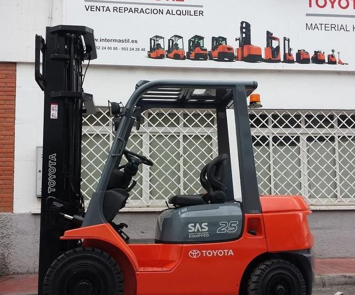 Carretilla diésel Toyota en Malaga