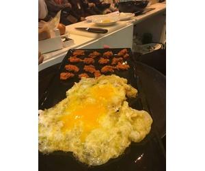 Huevo con sobrasada de ganso ibérico en el Salon Gourmets