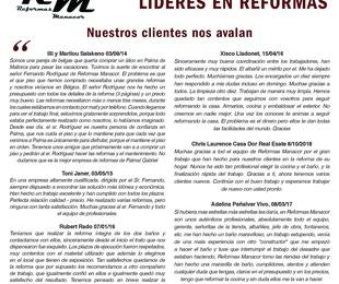 Opiniones de nuestros clientes en Ultima Hora - Reformas Manacor