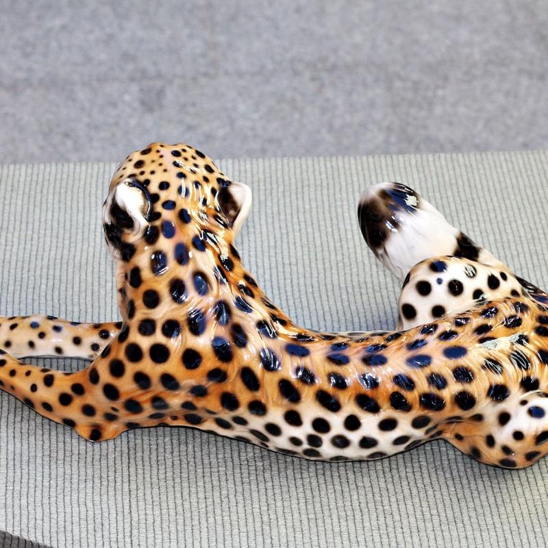 Figura de guepardo en cerámica :  de Ruzafa Vintage