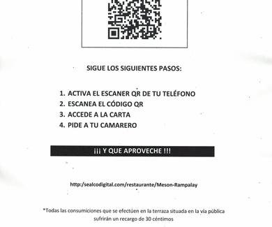 CÓDIGO QR PARA CONSULTAR NUESTRA CARTA DIGITAL