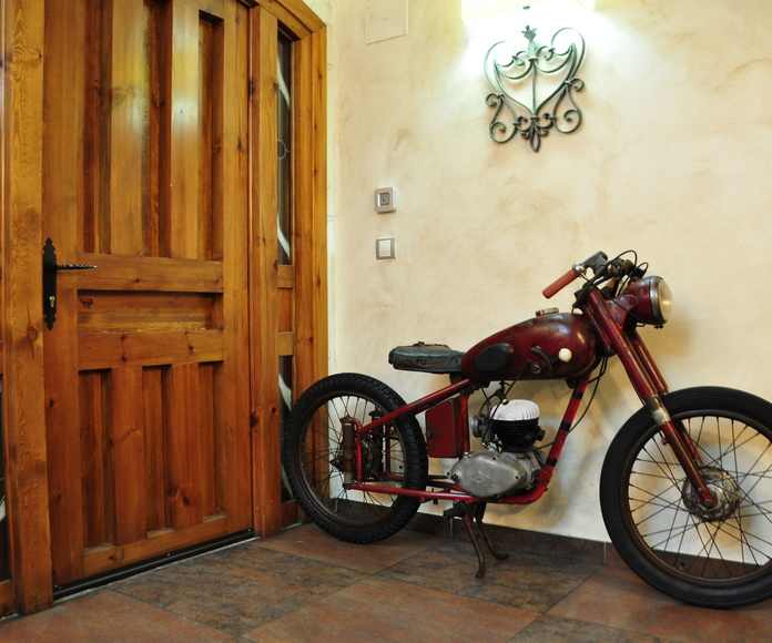 Adorno restaurante motocicleta Lube de carreras años 50