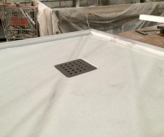 Platos de ducha,en marmol natural
