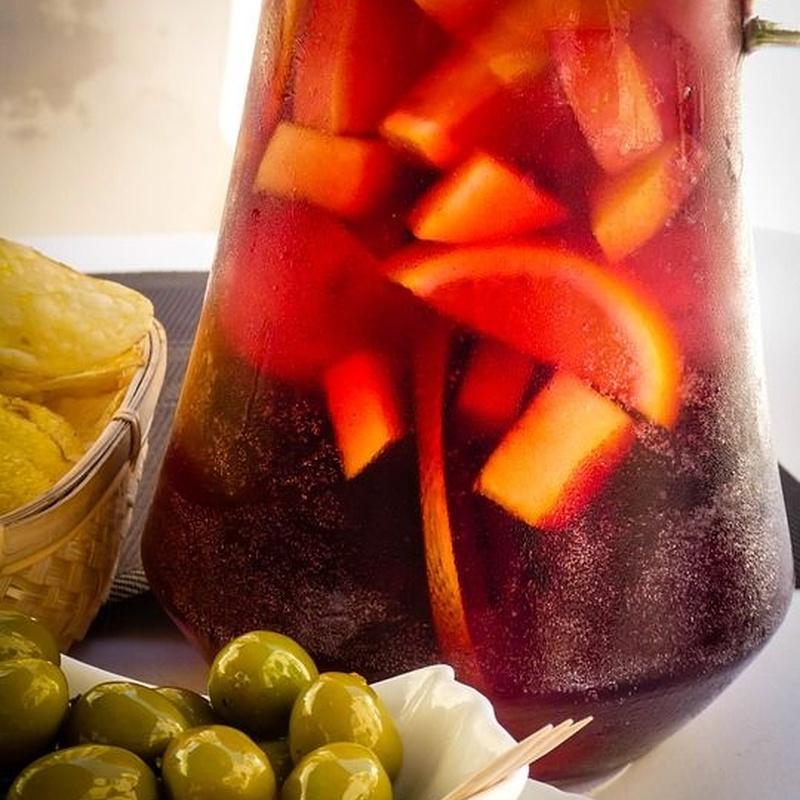 Pink and sangria: Menu de Restaurant Can Ganassa