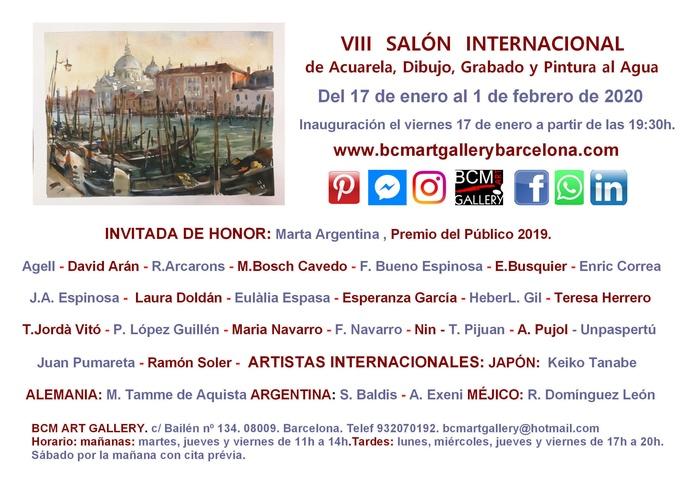 VIII SALÓN DE ACUARELA , DIBUJO, GRABADO Y PINTURA AL AGUA: Exposiciones y artistas  de BCM Art Gallery