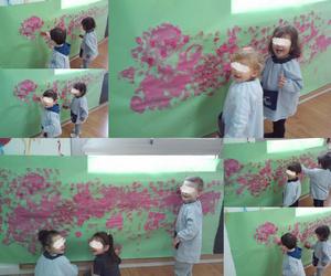 Pintando en la escuela infantil