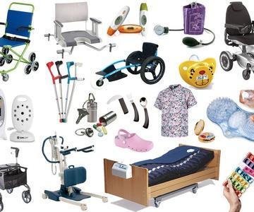 Productos de apoyo para el cuidado y la higiene personal.