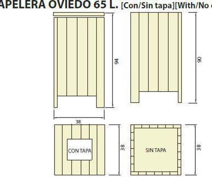 Papelera Oviedo 65l: ¿Qué podemos ofrecerte? de CM PLASTIK RECYCLING SL