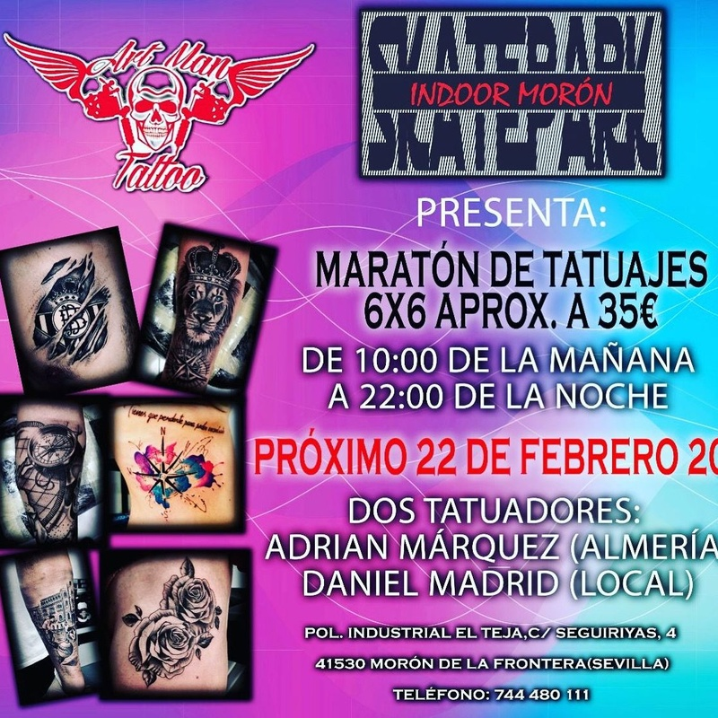 Evento en Moron (Sevilla): Catálogo de Tattoo Artman