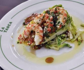Aperitivos calientes | Hot Starter | Warme Vorspeisen: Carta de Restaurante La Tasca