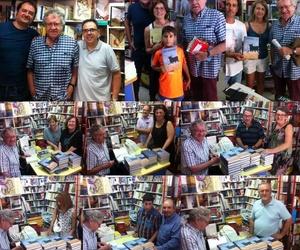 Firma de libros en Liberia Serret en Teruel Ian Gibson & Francesc Miralles en Serret