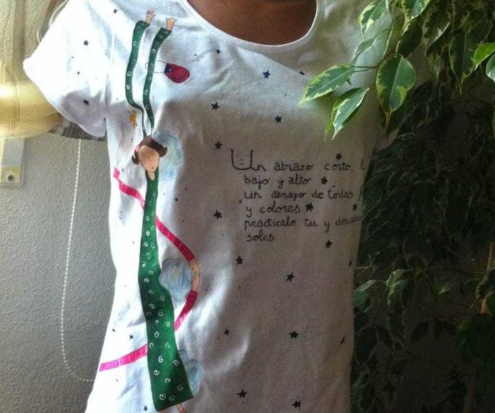 camiseta adulto pintada