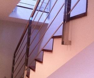 Barandilla de escalera en acero inoxidable