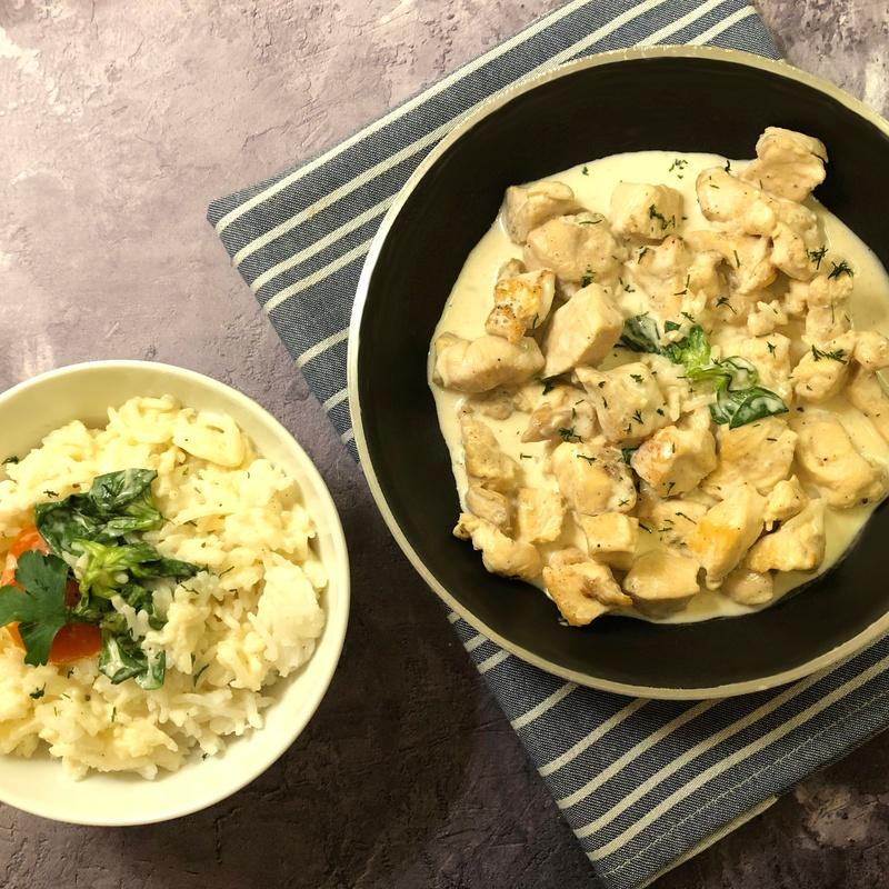 Medallones de pollo con salsa roquefort 1kg: Nuestros productos  de Precocinados Mi Tierra