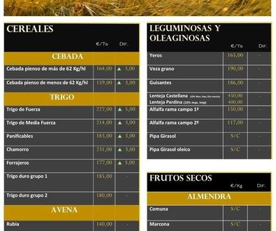 Lonja de Albacete 09.08.18 Cereales & Frutos Secos