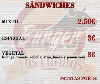 Platos combinados: Platos de Burger Los Cuñaos