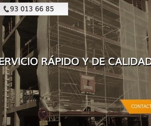Montaje de andamios en Badalona, Barcelona | Andamios Omega 2005