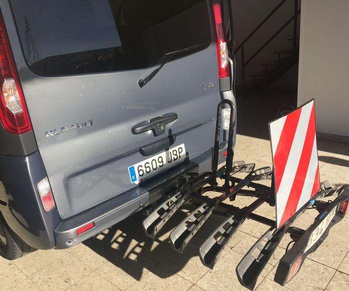 Alquiler vehículo plazas con portabicis