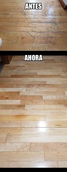 Tarima rayada en Madrid reparada por woodmagik
