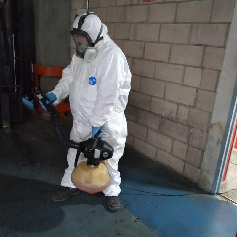 Desinfección edificio por nebulización