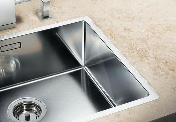 Fregaderos Blanco de acero inoxidable modelo Blanco Claron 550-IF