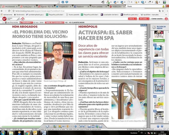 Entrevista LAS PROVINCIAS