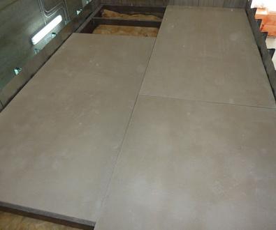 Placas de yeso laminado para suelos flotantes