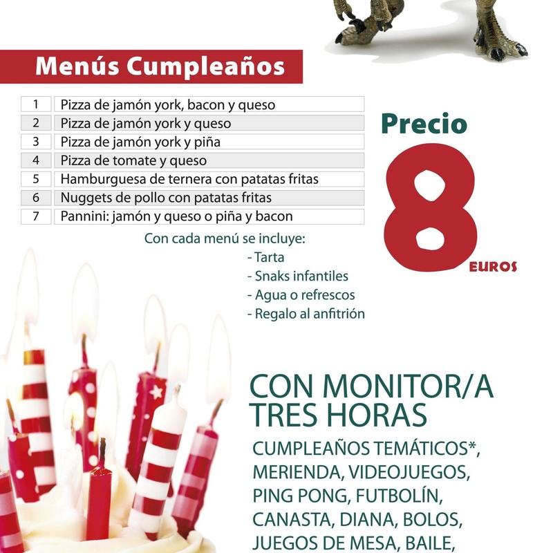Menú cumpleaños: Amplia carta de Restaurante El Cobijo