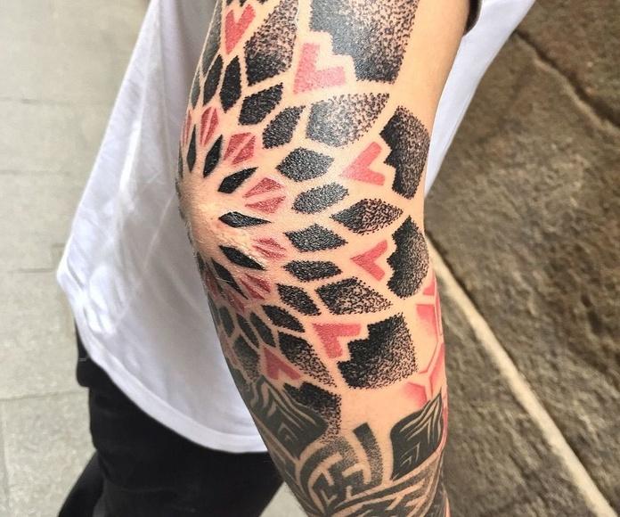 Tatuajes Geométricos en Barcelona: Tatuajes de Inksane BCN Tattoo en Barcelona