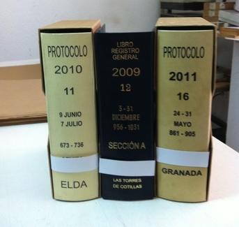 Encuadernación protocolo y libro registro general
