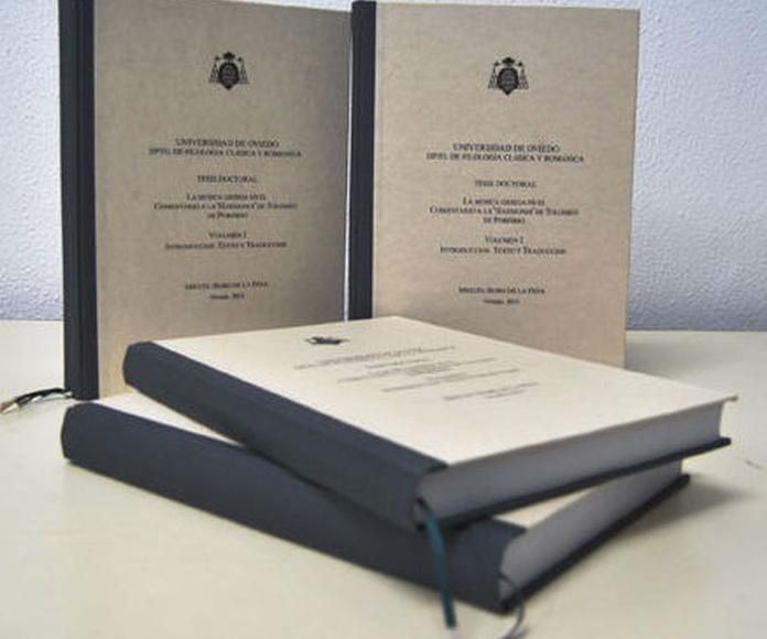 Encuadernación de tesis y trabajos fin de grado: Productos y servicios de Encuadernaciones Inclán