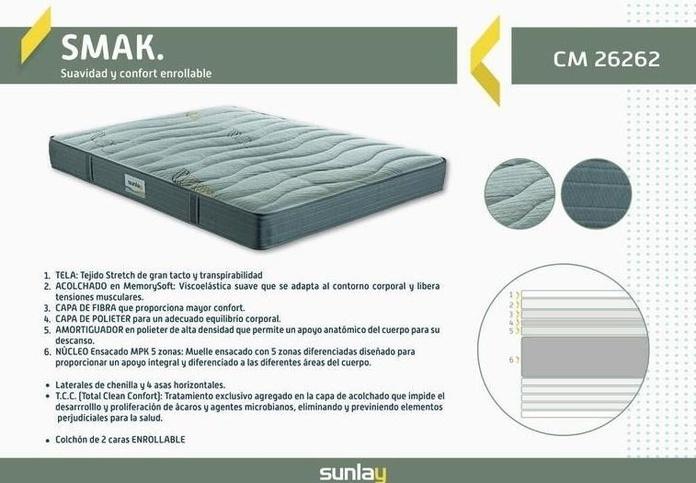 EV Colchonería: Nuevo colchón Smak de Pikolin desde 159 €