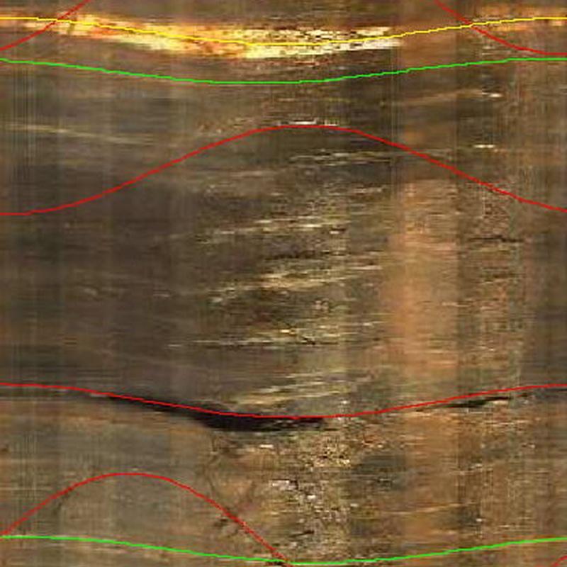 Testificación geofísica (imagen óptica) de sondeo en El Cabril (Córdoba)